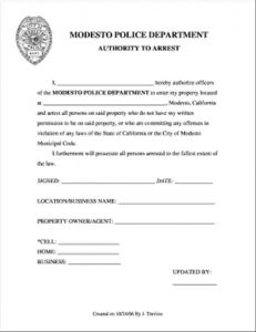 Trespassing Letter Template - No Trespassing Letter Template Tario