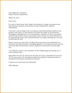 Trustee Resignation Letter Template - Board Member Removal Letter Template Examples