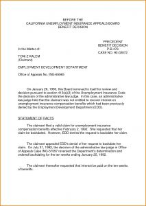 Unemployment Denial Appeal Letter Template - Ca Edd Archives Models form Ideas Models form Ideas