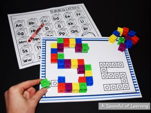 Unifix Cube Letter Template - Fun Alphabet Center Activities