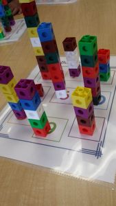 Unifix Cube Letter Template - tower Building Printable Freebie K Math Centers