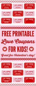 Valentines Day Letter Template - Free Printable Love Coupons for Kids Valentine S Day