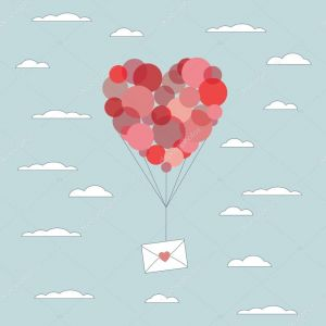 Valentines Day Letter Template - Valentines Day Card Template Love Letter In Envelope Flying Up with