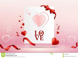 Valentines Day Letter Template - Abstract Valentine Day Love Letter Card Vector Template Design and