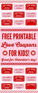 Valentines Letter Template - Free Printable Love Coupons for Kids Valentine S Day