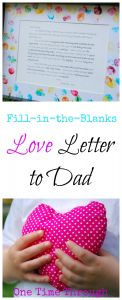 Valentines Letter Template - Love Letter to Dad for Father S Day
