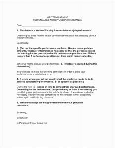Verbal Warning Letter Template - Verbal Warning Letter Template Collection