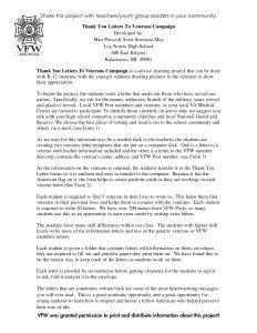 Veterans Day Thank You Letter Template - Veteran Thank You Letter Template Collection