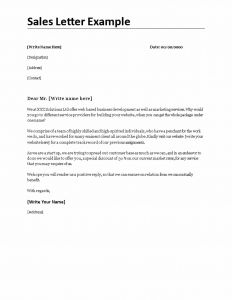 Video Sales Letter Template - Sales Letter Template Word Refrence Sales Letter Example Template