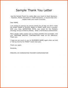 Volunteer Thank You Letter Template - 50 Unique Sample Thank You Letter for Donation