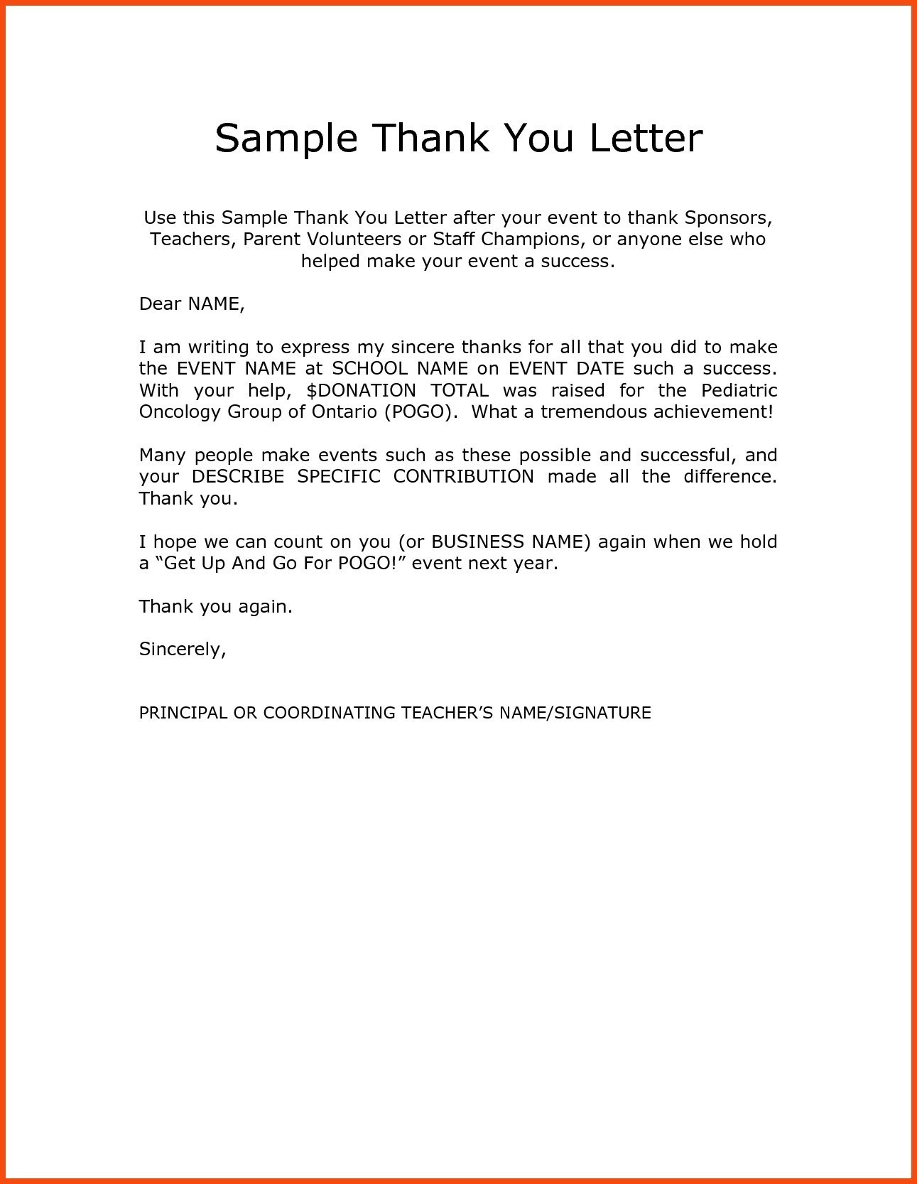 Thank You Letter Samples | 13 Volunteer Thank You Letter Template Ideas Letter Templates