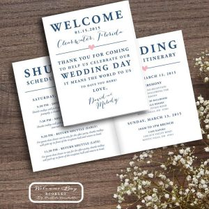 Wedding Welcome Bag Letter Template - Printable Wedding Wel E Bag Booklet Note Itinerary Wedding Wel E