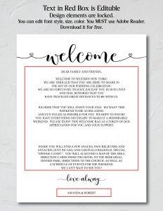 Welcome Bag Letter Template - Wel E Bag Letter Template Fresh Wedding Wel E Cards April