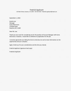 Withdrawal From School Letter Template - Sample Letters withdrawing A Job Application