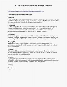 Word Letter Of Recommendation Template - Sample Fer Letter format In Word New 30 Letter Template Word
