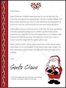 Word Template Christmas Letter - Letter to Santa Template Word Free Save Christmas Letter Santa
