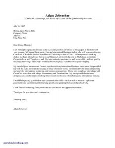 Work Cover Letter Template - Cover Letter sincerely Valid Cover Letter Examples for Internship