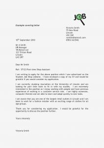 Work Cover Letter Template - Example Job Cover Letters