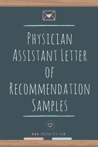 Writing Your Own Letter Of Recommendation Template - Physician assistant School Application Re Mendation Letter
