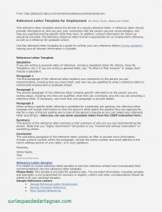 Writing Your Own Letter Of Recommendation Template - Template for Letter Reference for Employment Samples